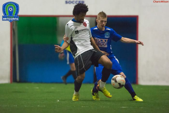 Aaron Burns is Co-Player of the Week in the WISL for his fourth quarter hat trick in Olympia. (Charis Wilson)